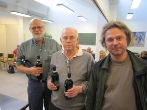Jørgen Anker Pabst, Vagn Søndergaard, Svend Rosendahl & Henrik Vedel - vinderne af Monrad-turneringen januar 2013