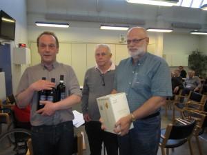 Lars Peter Damgaard, Morten Stege, Vagn Søndergaard & Jørgen Anker Pabst vinderne af B-rækken forår 2013