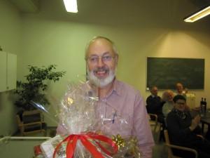 Flot gave til Peter C. - onsdagsklubbens dygtige turneringsleder